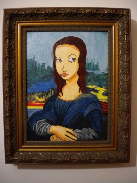 Kim's Rendition of the Mona Lisa - Note the sly look!